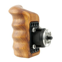NICERYIG Right Side Wooden Handle with ARRI Rosette for Shoulder Mounting Rig