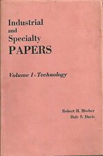 Mosher e Davis: INDUSTRIAL AND SPECIALTY PAPERS volume I - Technology _ CHEMICAL