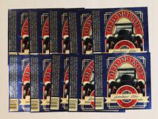 US American MI LOT Old Detroit Amber Ale 10x beer label 12 Fl. Oz. Michigan car