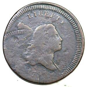 1797 C-2 R-3 Dbl Struck Liberty Cap Half Cent Coin 1/2c