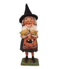 Bethany Lowe OLD WITCH WITH JACK O' LANTERN Figure by Debra Schoch (HH4872)