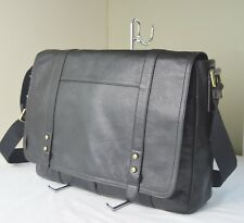 Fossil Black Pebble Leather Travis Men Messenger