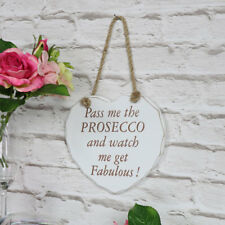 prosecco wine hanging wall heart white vintage gift home accessory humorous