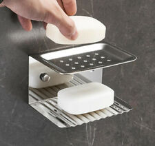Bathroom Soap Dish Bath Storage Holder Shower Accessory Hanger Shelf Wall Mount