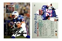 Curtis Martin Signed 1996 Playoff #130 Card New England Patriots Auto Autograph
