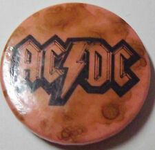 """AC/DC Old Vtg 1970`s Button Pin Badge(32mm-1.25"""") AC102"""