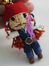 Jack Sparrow Pirates of the Caribbean Voodoo Keychain Keyring Doll Handmade New