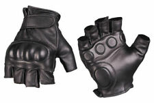 Tactical Fingerless Gloves Protective Gloves Biker Chopper Leather Gloves