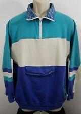 vintage lineup tennis golf pullover quarter zip jacket swester sz M 988