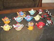 Collection of 13 Mary Engelbeit Miniature Tea Pots