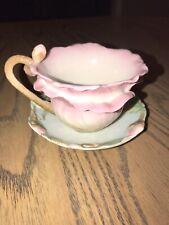 FRANZ PORCELAIN Camellia Blossom Pink Cup & Saucer Set