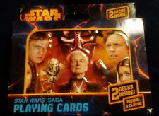 NIB Star Wars Saga Playing Cards Double Deck in Collectible Embossed Tin