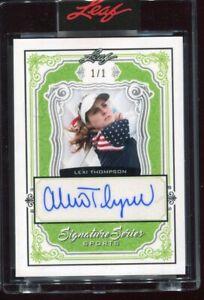 2021 Leaf Signatures Series Sports Lexi Thompson Green Auto Autograph #'d 1/1
