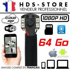 MODULE CAMERA ESPION IP WIFI FULL HD 1080P + MICRO SD 64 GO INFRAROUGE DÉTECTION