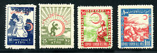 Syria - Anti TB Seals - 1955 Set of 4 - (Green # 4.1 - 4.4)