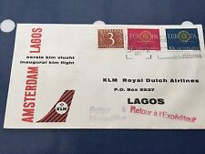 Netherlands KLM 1st flight to Lagos from Amsterdam FDC 18.1.1961 from Utrecht