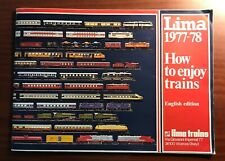 1977-78 LIMA 'How to enjoy trains' catalogue, English edition, 68 pages, in GC