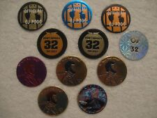 11 OJ 32 Juice Quarter Penny Foils Pogs Bottle Caps Slammers Boys & Girls