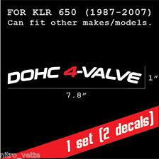 Kawasaki KLR 650 DOHC 4 VALVE fender decal sticker