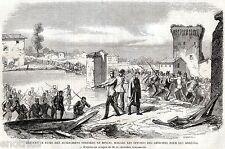Borghetto,Valeggio sul Mincio: ROTTA E FUGA AUSTRIACI. Verona. Risorgimento.1859