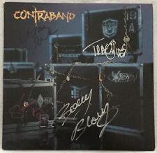Autographed Contraband S/T Vinyl L.A. Guns, Vixen, Ratt, Michael Schenker