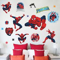 Spiderman Wall Sticker Set Marvel Avengers War Vinyl Decal Bedroom Nursery Decor