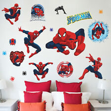 3D Spiderman DIY Wall Stickers Removable Art Decal Mural Home Kids Bedroom Decor