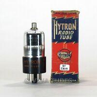 True NOS NIB CBS Hytron USA 6R7GT Grey Plate Foil D Get Vacuum Tube