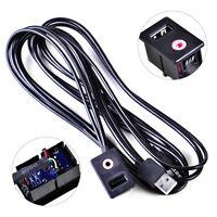 Neu USB AUX KFZ Einbau Buchse Klinke Adapter Kabel 3.5mm Verlängerung Anschluss