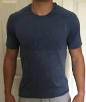 Lululemon Mens Size L Metal Vent Tech SS 2.0 Blue MDSW/TEMP Short Sleeve