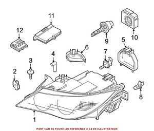 For BMW Genuine High Intensity Discharge Headlight Control Module Front Left 631