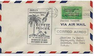1Cuba C31 tied by Habana 10/15/39 postal Rocket cover