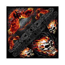 Skull Eagle Adler V Twin Tribal Flammen Totenkopf Bandana Tuch Kopftuch Halstuch