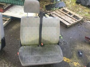 VW T4 TRANSPORTER 2001 DOUBLE PASSENGER FRONT SEAT AND BASE