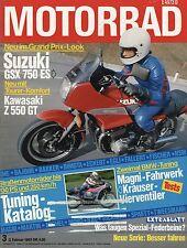 MOTO 3/83 1983 BEKO HONDA LEAD nh80 TRIUMPH TSX SUZUKI gsx750es Magni MOTO