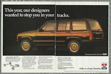 1989 JEEP CHEROKEE 2-page advertisement, Chrysler Jeep Eagle