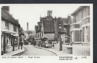 London Postcard - Old St Mary Cray - The High Street - Pamlin Prints A6401