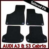 Audi A3 Convertible Mk2 2008-2013 Tailored Fitted Carpet Car Floor Mats BLACK