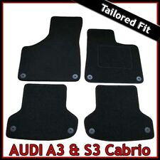 Audi A3 Convertible Mk2 2008-2013 Tailored Fitted Carpet Car Floor Mats BLACK