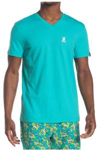 PSYCHO BUNNY V-Neck Lounge T-Shirt, Machine wash, Cotton blend, Small, NWT