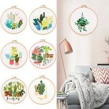 Handmade Cross Stitch European Embroidery Plant Pattern Embroidery Starter Kit
