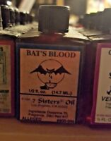 BATS BLOOD Ritual Oil Spells Wicca PAGAN Witchcraft Hoodoo 1/2 OZ Occult SPELL