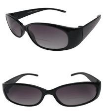 Bifocal Gafas de Sol Negro Marco De Diseñador Ojo de Gatos Protección UV Lente graduado