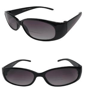 Bifocal Sunglasses Black Cats Eye Designer Frame UV Protected Graduated Lens