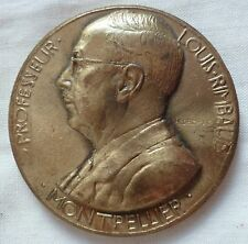 Médaille Bronze Médecine Professeur Louis RIMBAUD 1947 ORIGINAL FRENCH MEDAL
