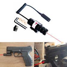 Tactical Mini Red Dot Laser Sight Scope Picatinny Mount Set for Handgun Rifle HQ