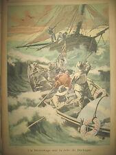 BRETAGNE FINISTERE SAUVETAGE BATEAU DE PECHE JOURNAL LE PETIT PARISIEN 1900