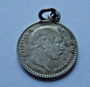 Love Token on DENMARK Christian IX Silver coin Combined Shipping Fiona?