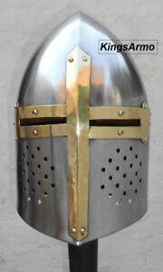 HALLOWEEN Knights Templar / Medieval Armor Crusader Roman Helmet CHRISTMAS GIFT