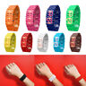 New Iron Samurai Metal Bracelet LAVA Watch LED Digital Watches Hour Show 9 Color